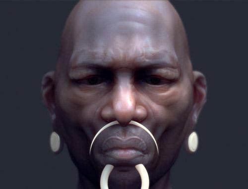 Modélisation 3D d'un prêtre vaudou