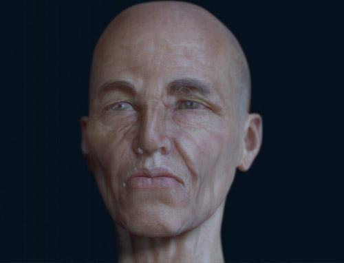 Modélisation 3D d'un vieil homme